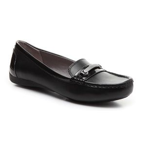 Abella black loafers size 8